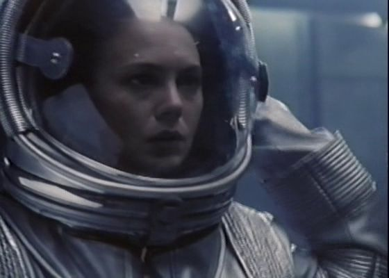 "Zinovitz (Brenda Bakke) suddenly finds herself transported out of her esxape pod in the 1994 movie ""Terminal Voyage"""