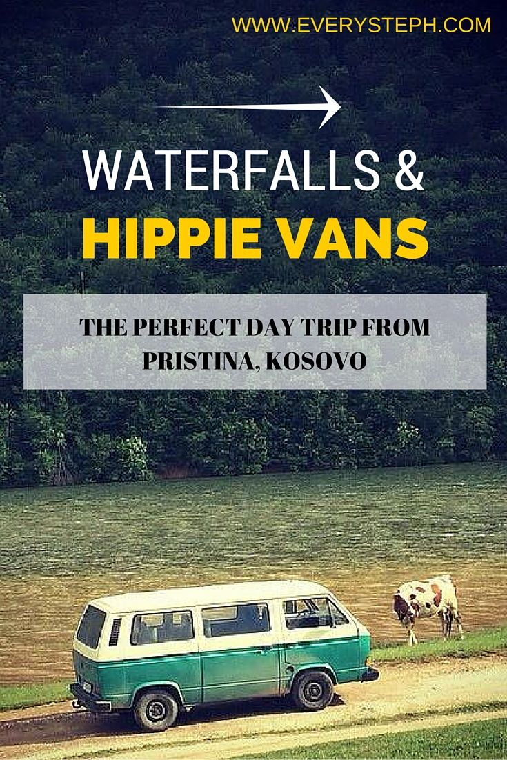Wondering what to do in Kosovo? Here it's the perfect day trip from Pristina, the capital of Kosovo, on board of - hang tight! - a wonderful hippie van! Photo by Buffalo Backpackers