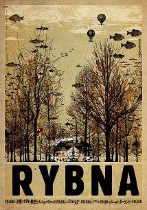 Ryszard Kaja - Rybna, polski plakat turystyczny