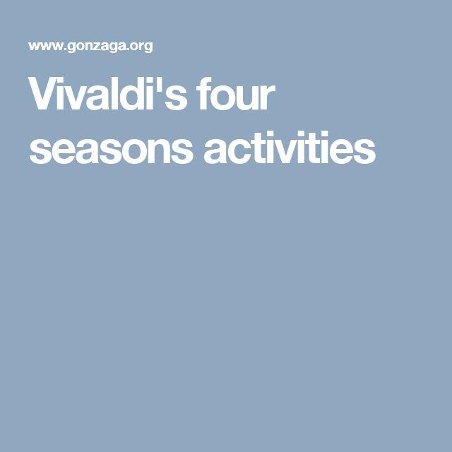 Vivaldi's four seasons activities