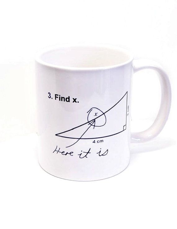 Find X Here it is Coffee Mug Teacher Mug Math Coffee par Mugsleys