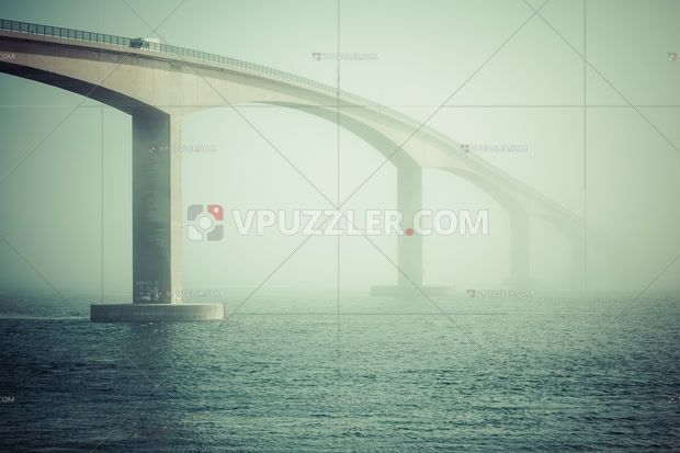 Bridge over the fjord #architecture #landscape #norway
