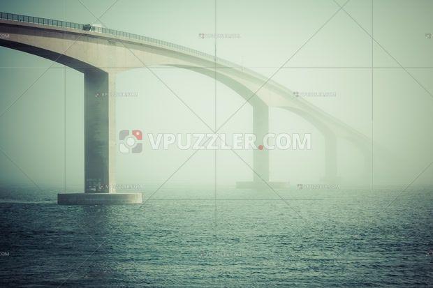 Bridge over the fjord #architecture #landscape #norway