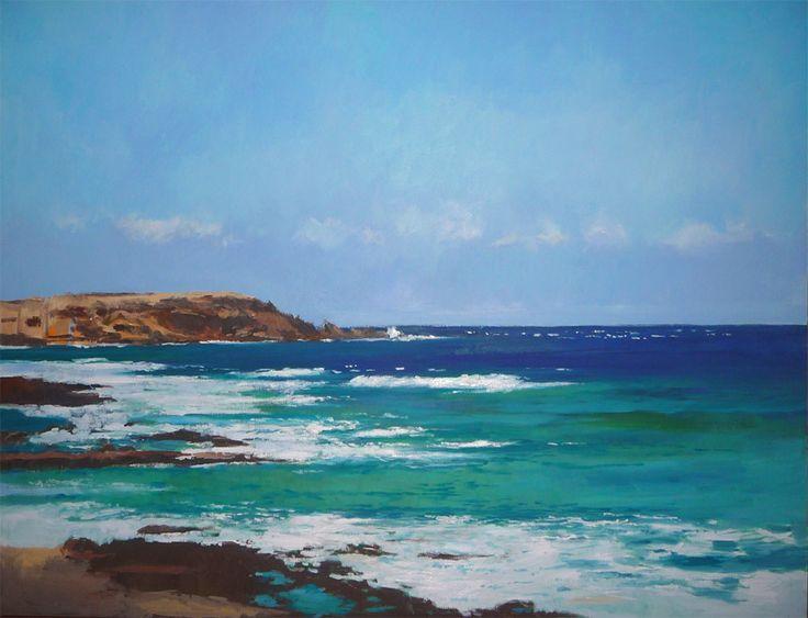 Playa de arinaga gran canaria cuadro al oleo marinas for Imagenes de cuadros abstractos famosos