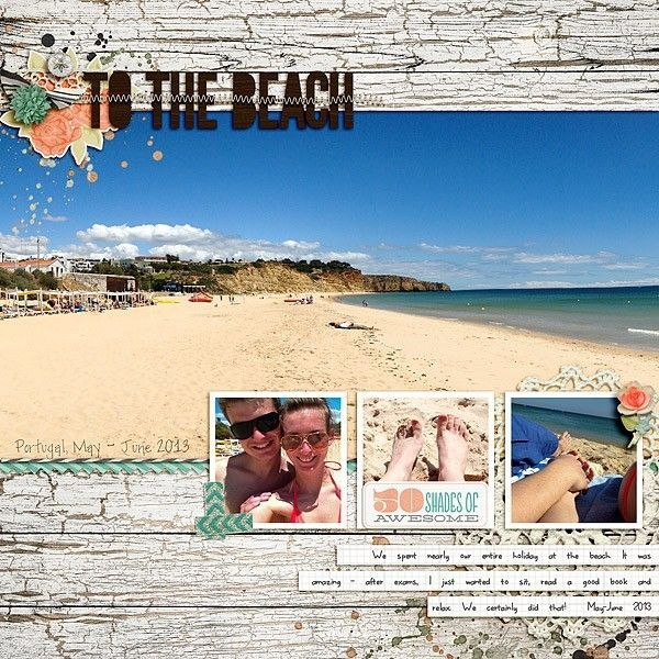 beach scrapbooking layout, travel scrapbooking ideas