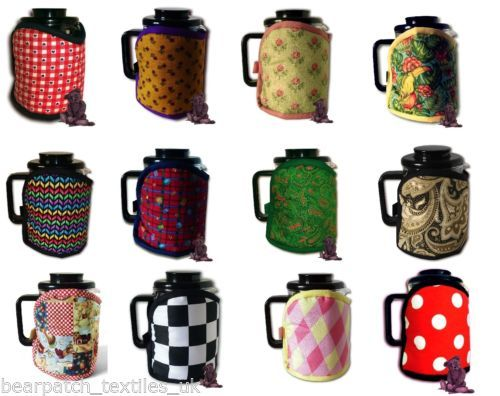 6-cup-800ml-Bearpatch-MultiColoured-Cafetiere-Coffee-Cosy-100-Cotton-Ltd-edns