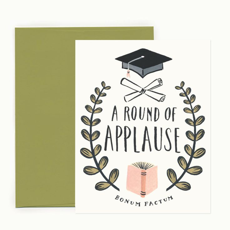Round of Applause Graduation Greeting Card by IdlewildCo on Etsy