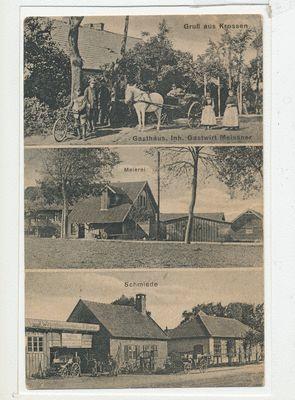 Krossen Kr. Braunsberg, Gasthaus, Meierei, Schmiede