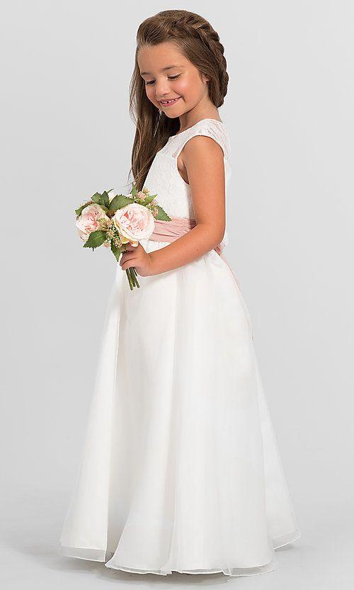 300bbe89282 Image of bella chiffon Bari Jay flower girl dress F5716. Style  BJ-F5716  Detail Image 1