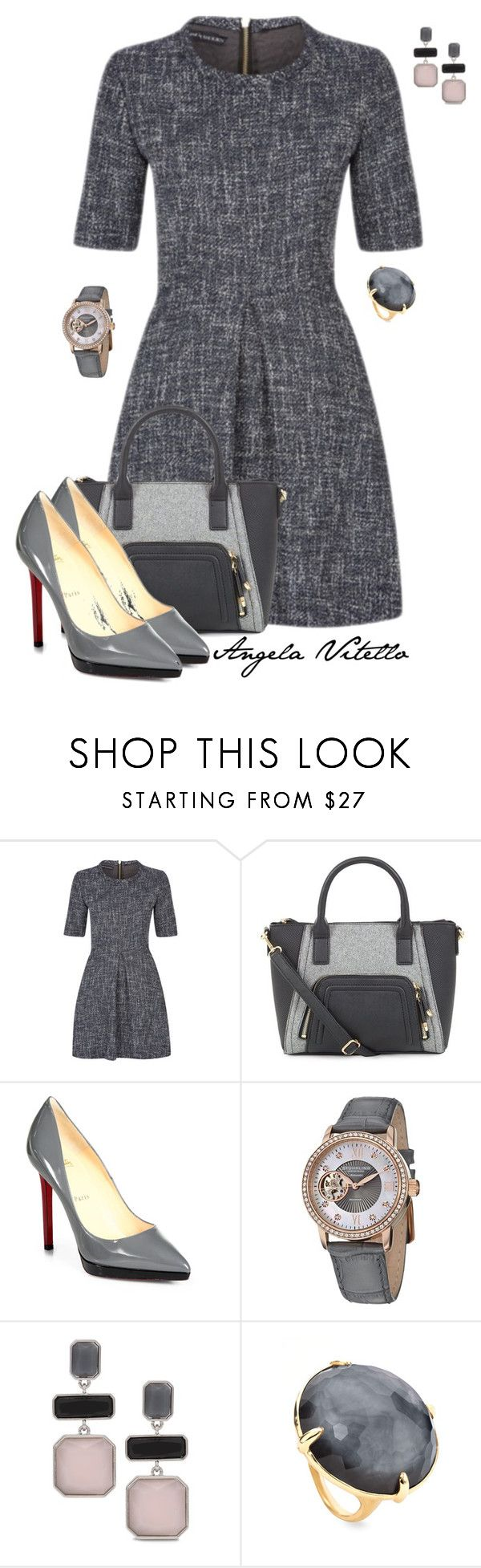 """Untitled #612"" by angela-vitello on Polyvore featuring Christian Louboutin, Stührling, Chico's and Ippolita"