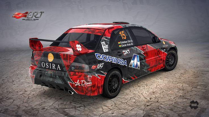 Esteban Eid - Oscar Arze (Mitsubishi Lancer Evo IX) design for Bolivia Rally Championships 2015