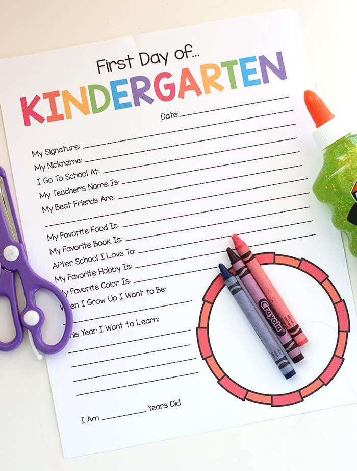 7 Great Kindergarten Printables For An Awesome First Year At School Most Of Them Free Back To School Guide 2019 Cool Mom Picks First Day Of School Kindergarten First Day Kindergarten Printables