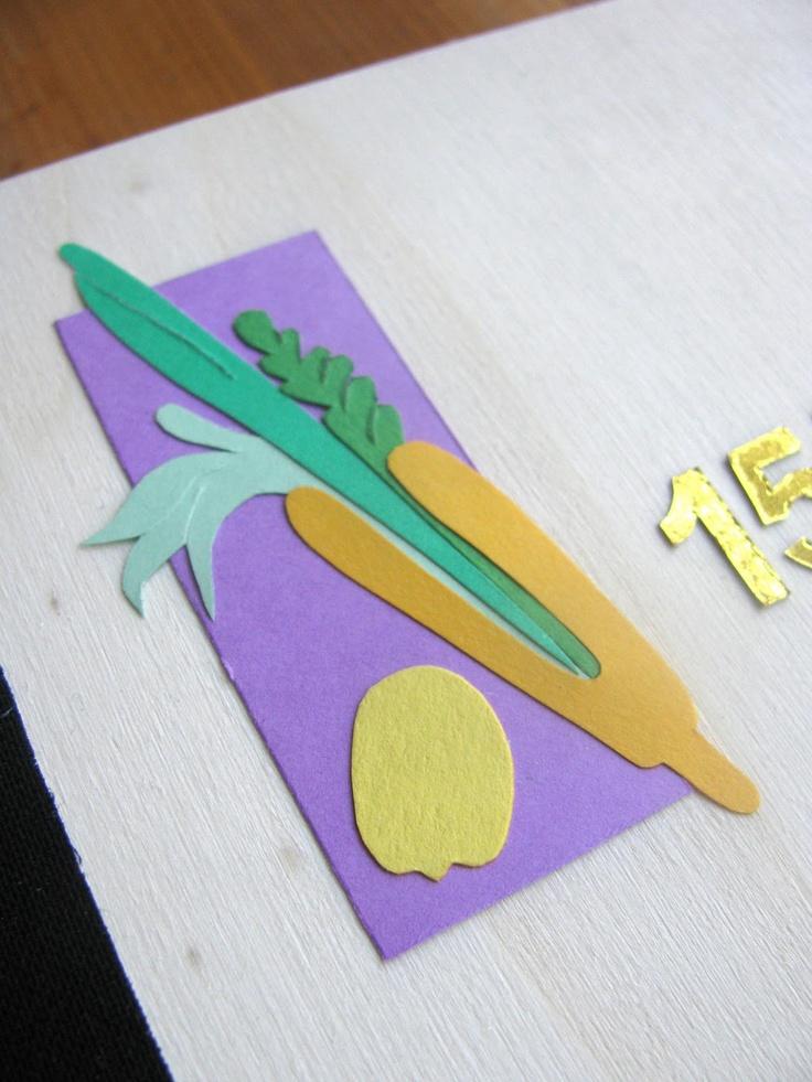 Petite Sukkah Table Runner | Sukkot, Sukkot decorations ...  |Sukkot Crafts For Teens