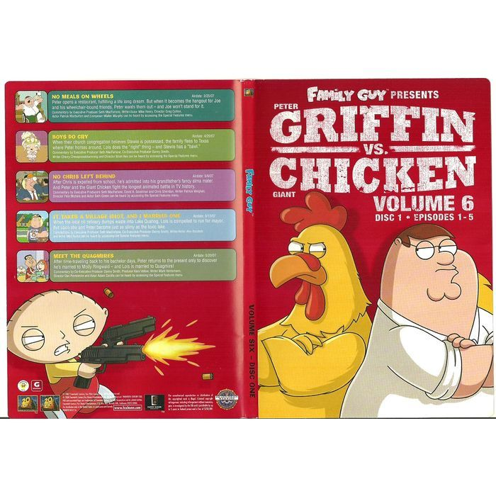 """Paper Label Artwork from DVD Case """"Family Guy Griffin VS Griffin Volume 6 Disc 1 Listing in the Other,DVD,Movies & DVD Category on eBid Canada 