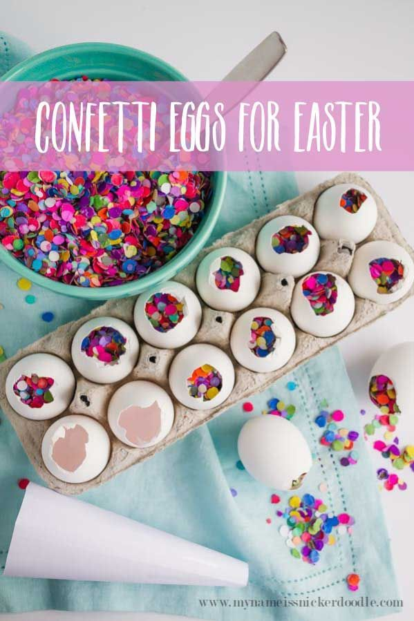 My Name Is Snickerdoodle: How To Make Fun Confetti Eggs for Easter