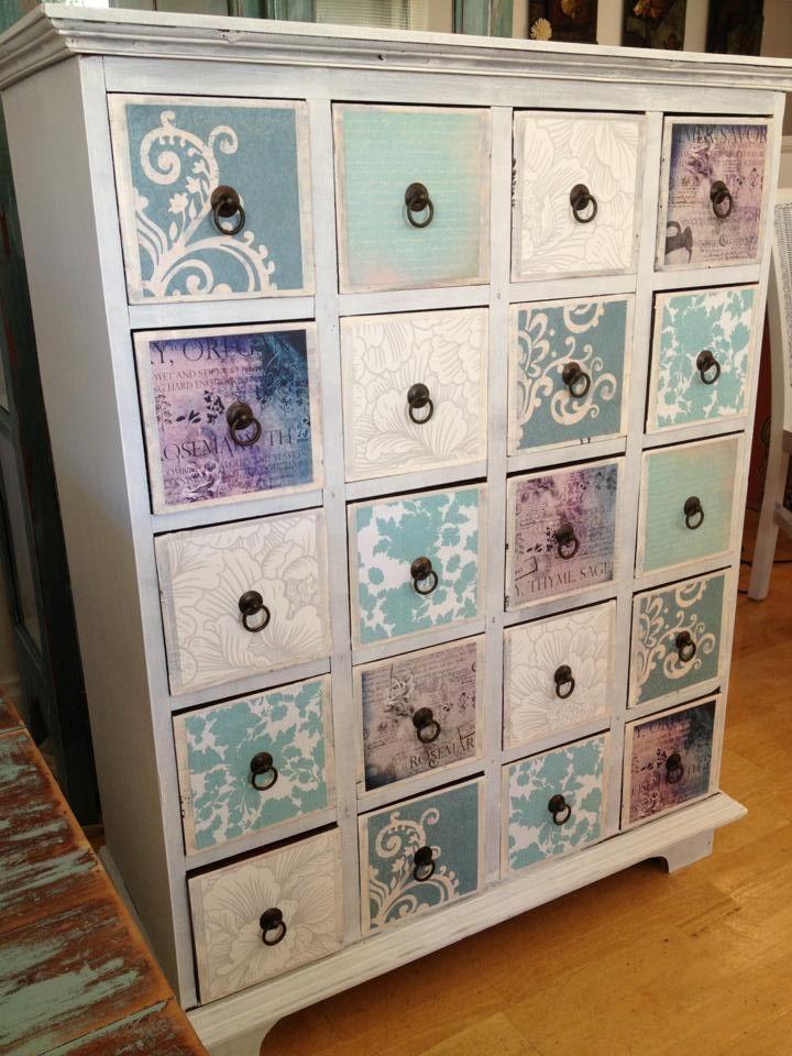 furniture repurposed. shabby chic repurposed drawers reart furniture