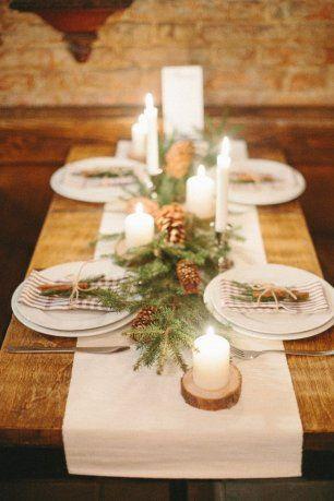 Зимняя свадьба. Стол