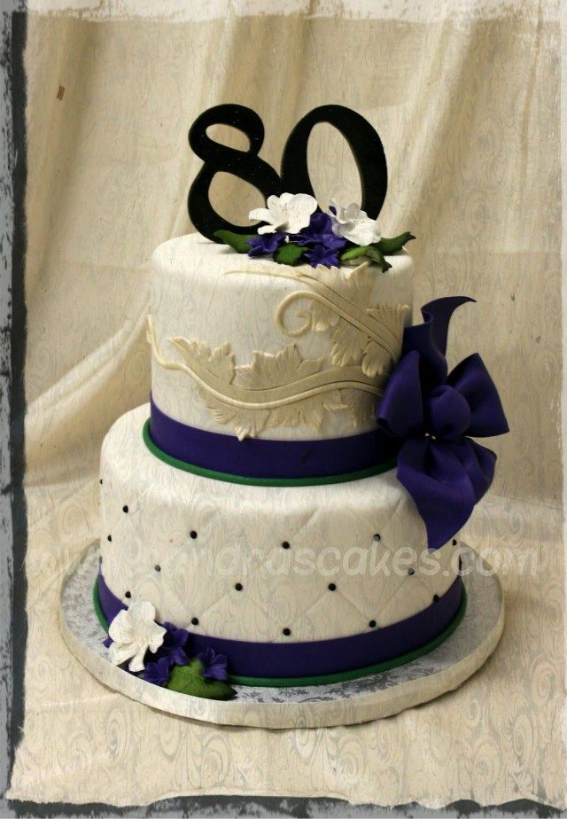 23 Brilliant Picture Of Elegant Birthday Cake 80th Cakes On BirthdayCakeToppers