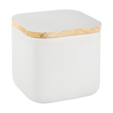 Grey Square Canister