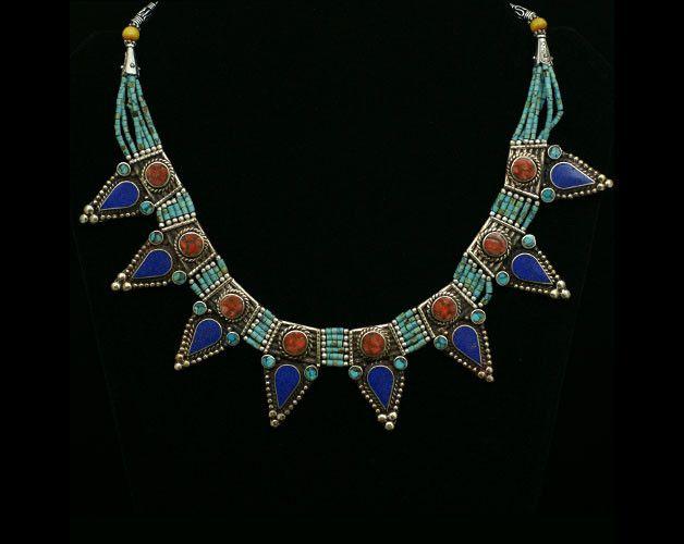 Boho! Orientalny naszyjnik z Nepalu XX - Karawana - Biżuteria orientalna