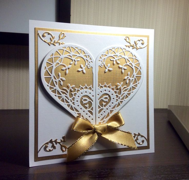 Some of the makes from the Courture dies from Create and Craft TV Mariposa Simple but elegant. The Adoring Collection Gold and white, clas...