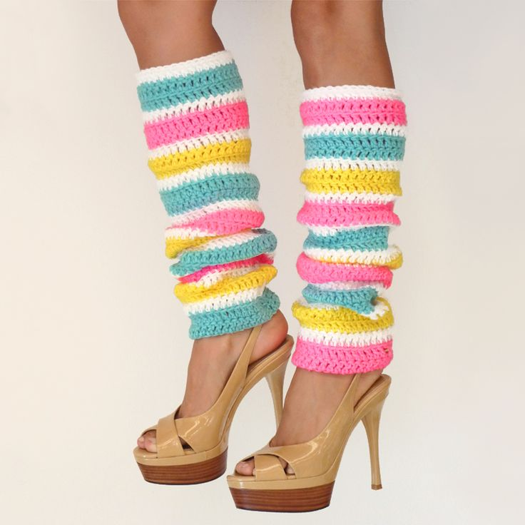 Images Of Leg Warmers | Neon Striped Leg Warmers  Mademoiselle Mermaid | Patterns | Pinterest ...