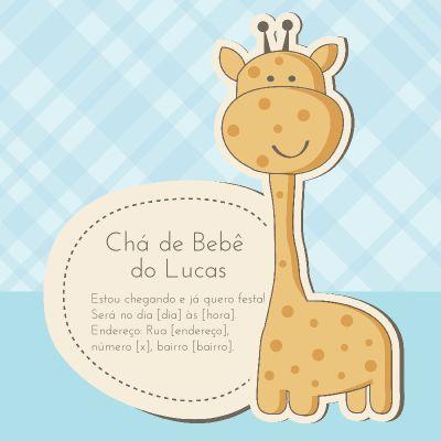 Modelos de Chá de Bebê/Fralda - Convites e Cartões Online