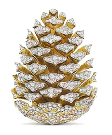 A diamond Pinecone brooch, Vedura, ca. 1950s