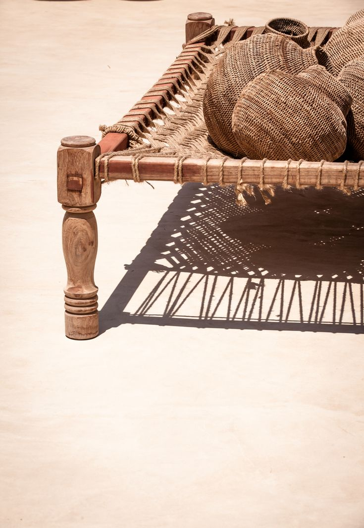 Details with Zoco Home Buhera gourd baskets in Scorpios Mykonos. Photography by Steve Herud and Reiner Baumann.