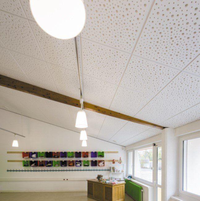 Dalle De Plafond Demontable Knauf Danoline Unity 8 15 20 Bord E Belgravia Plafond Acoustique Plafond Faux Plafond Acoustique