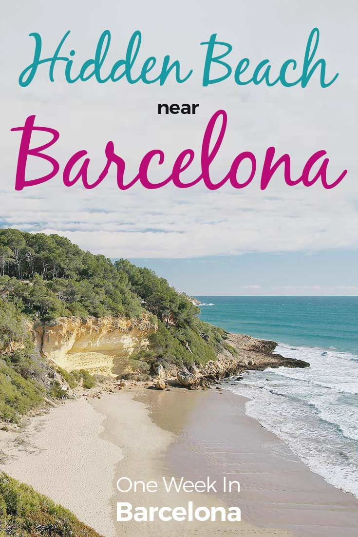 """Have you heard of Waikiki Beach Tarragona? It is a gorgeous beach south of Barcelona, next to Tarragona. The official name of this beach is """"Cala Fonda"""", but locals call it Waikiki Beach. It is a real paradise near Barcelona. Check out how to get there at http://one-week-in.com/waikiki-beach-tarragona/"""