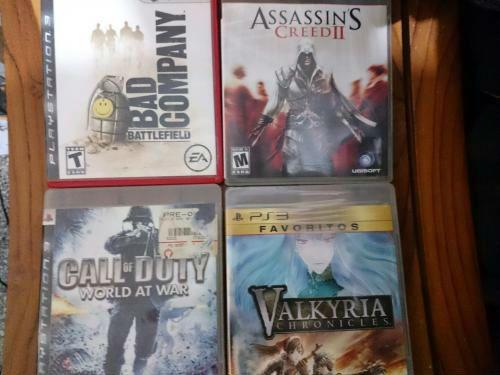 hola, vendo juegos para ps3: Call of Duty world at war $15. Battlefield bad company $15. Valkyria Chronicles $15. Assassin's Creed II $15. todos los juegos tienen su folletito.2 juegos por $...