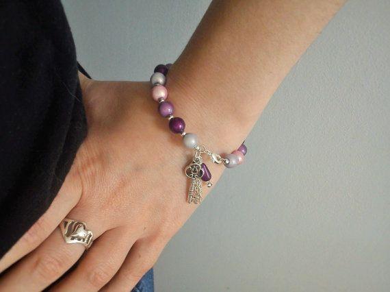 Bracelet féérique perles tons rose et par LeManegeSurLaColline