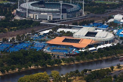 The view of the Australian Open 2015 from the Skydeck