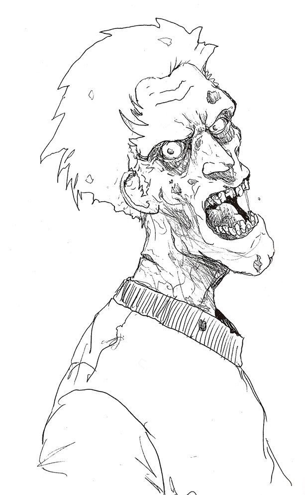 Ver 1 000 bilder om zombie coloring p pinterest for Free zombie coloring pages