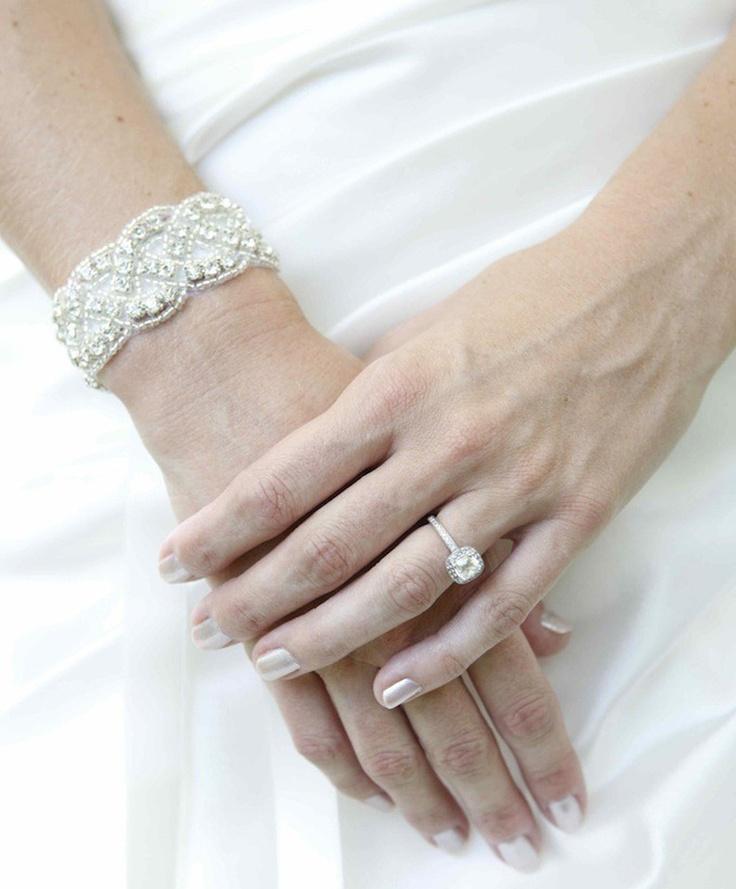 bridal bracelet - crystal bracelet