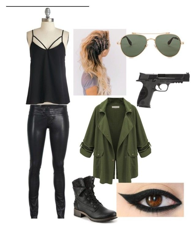 Spy Outfit #2 by dj-hiro on Polyvore featuring polyvore fashion style WithChic Givenchy Smith & Wesson clothing