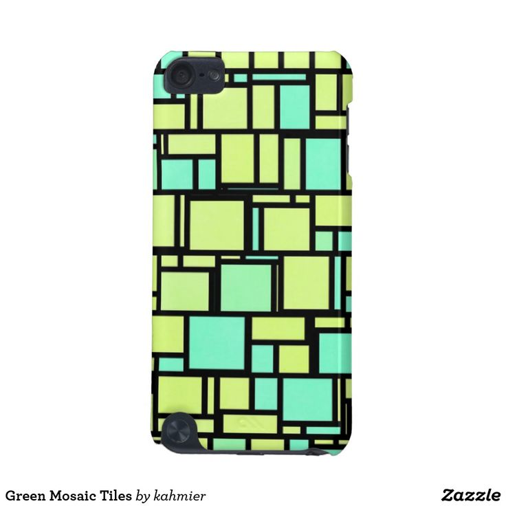 Green Mosaic Tiles iPod Touch 5G Case