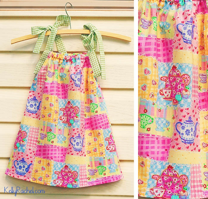 Very easy dress for a little girl. Tutorial here: http://www.homelife.com.au/home+ideas/home+help/sew+a+summer+dress+for+a+little+girl,5601