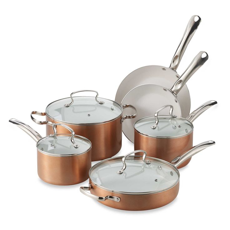 Denmark® 10Piece Ceramic Nonstick Aluminum Cookware Set
