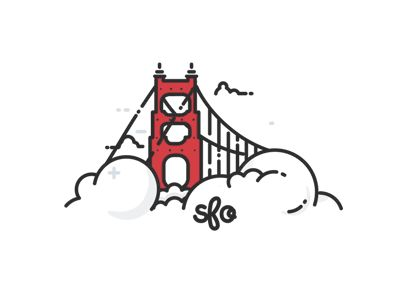 I made an animation for @Kirk Wallace fantastic Golden Gate Bridge illustration. Make sure to check out the original shot, or even purchase it below and support a fantastic illustrator! Yay for c...