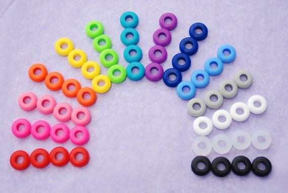 3 Colored Grommets for DIY Mason Jar Cups, Tumblers, Silicone Grommets Food Safe, Rubber Grommets Food Grade, DIY Christmas Gift