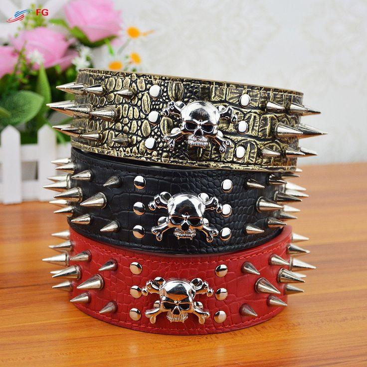 Skull Studded Croc Leather Dog Collar #pitbull #americanpitbull #dog #dogs #pitbullterrier #pitty #pitbulls #collar #crocodile #leather #crocodileleather #coupon #sale #discount #discounts #blackfriday #cybermonday #puppy #puppies