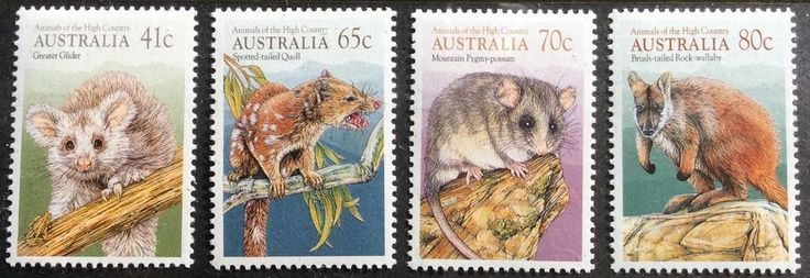 1990 Animals of the High Country 41c 65c 70c 80c Set of 4 MUH in Stamps, Australia, By Type   eBay!