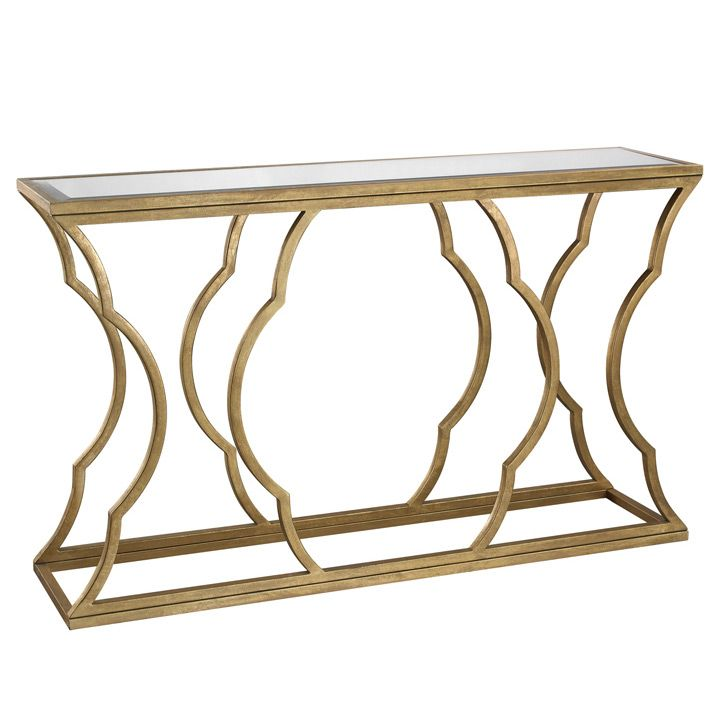 7 best tv console table images on pinterest console for Small metal console table