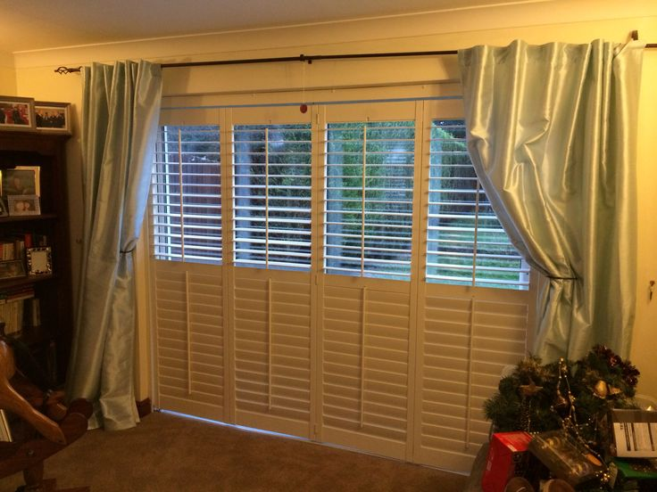 Patio plantation shutters fitted recently  Www.apollo-blinds.co.uk for more ideas
