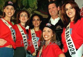 Contestants to the Miss Universe Pageant 1996 in Las Vegas.NV