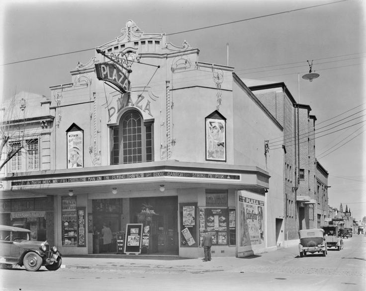 Corner Mitchell Street & Bath Lane, now the Plaza Theatre ( opened in 1934 ) in 1939..jpg