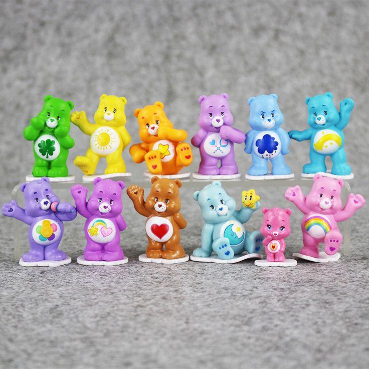 Great 12pcs/lot care bears Japanese original anime figure kids toys for boy girl