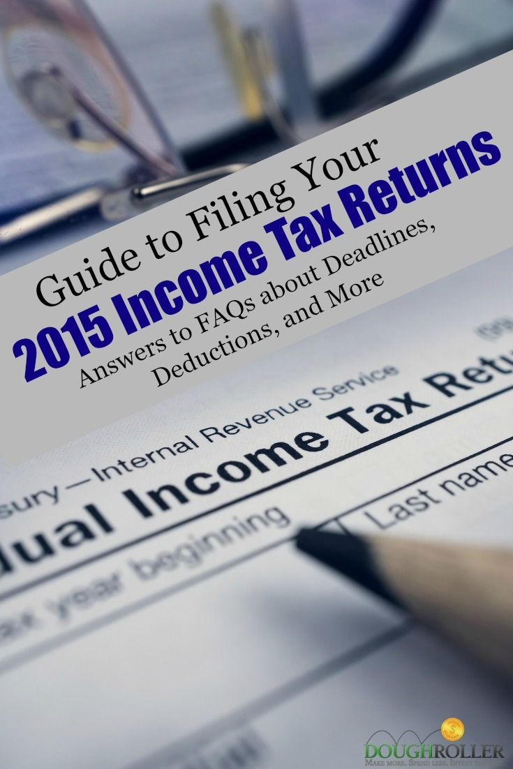 Use this guide to answer some of the most common questions about filing your 2015 income tax return. Deadlines and income thresholds are included.